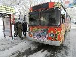 У Херсоні горів тролейбус з пасажирами [відео]