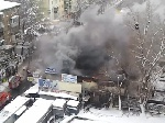У Києві горів радіоринок на «Караваєвих дачах»