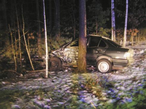 На трасі Київ-Ковель «БМВ» врізався в дерево – загинули 2 людини - фото