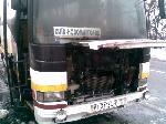 Під Києвом горів автобус з пасажирами