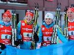 Українські біатлоністки здобули золото на естафеті Кубка світу
