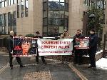 У Брюсселі опозиція влаштувала пікет Януковичу
