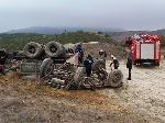 У Феодосії перекинувся КамАз, водій загинув [фото]