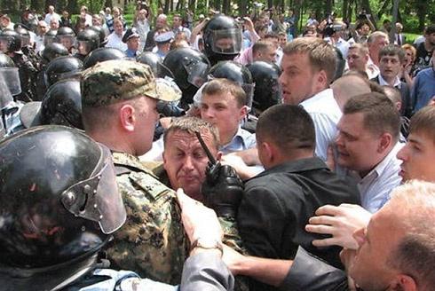 На 9 травня у Тернополі були сутички - фото