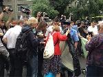 Журналісти поставили намети біля будівлі МВС