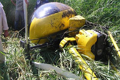 У Кременчуцькому районі внаслідок аварійної посадки вертольоту постраждали 2 особи - фото