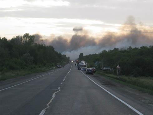У Самарській області вибухи на полігоні - фото