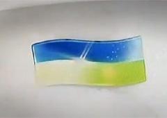 В Росії український прапор змивають в унітаз - фото