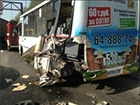 На трасі Москва-Рига зіткнулися лоб в лоб два автобуси