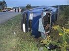 На Закарпатті мікроавтобус збив пішохода і перекинувся