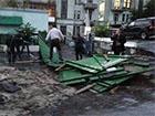 Знесли паркан будівництва на столичній вулиці Коцюбинського