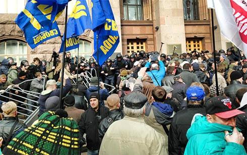 Київраду штурмують - фото