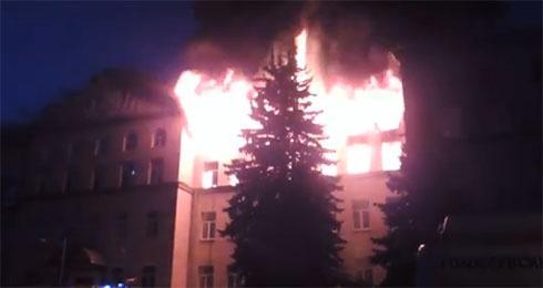 У Києві горить Національний аграрний університет - фото