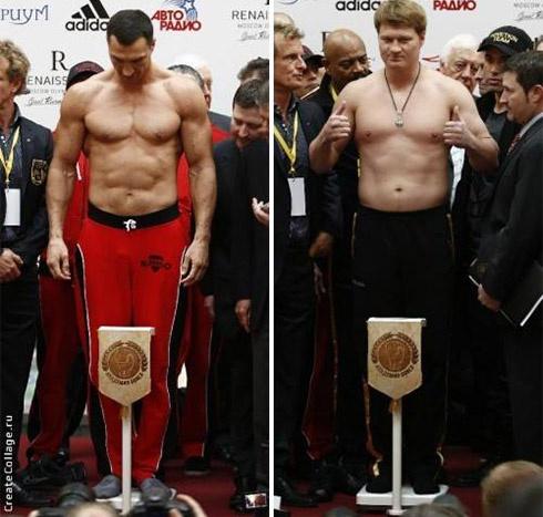 Володимир Кличко на 7 кілограм важче за Повєткіна - фото