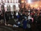 На Майдані Незалежності у Києві встановили кілька наметів, але простояли вони недовго