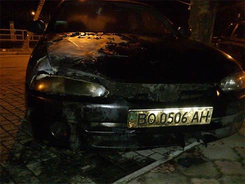 Спалили два автомобіля свободівців, активістів Євромайданів - фото