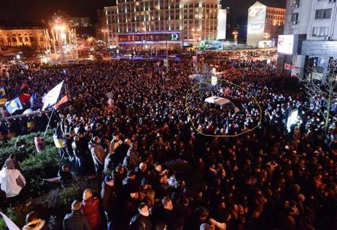 В СБУ заявляють, що їх автомобіль на Євромайдані «прослуховував» вибухові пристрої - фото