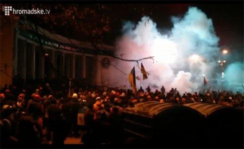 Міліція затримала чотирьох учасників протесту на Грушевського - фото