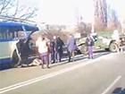 П'яні російські окупанти у Криму на «Тигрі» врізалися в тролейбус