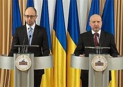 Турчинов та Яценюк пообіцяли російській мові статус другої офіційної - фото