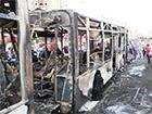 У Києві на Троєщині згорів пасажирський автобус