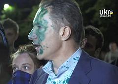 Як Рудьковського облили зеленкою - відео - фото