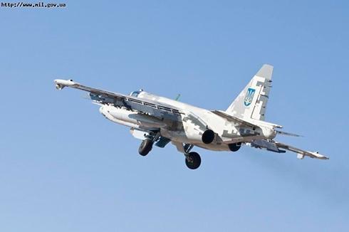 Російський військовий літак на Донеччині збив український Су-25 - фото