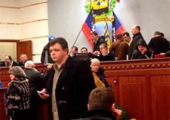 Семенченко засвітився у захопленій сепаратистами Донецькій ОДА - фото