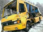 На Сумщині шкільний автобус зіткнувся з вантажівкою