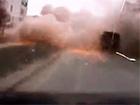 Обстріл Маріуполя на відео, зняте відеореєстратором