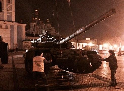 На Михайлівській площі покажуть докази агресії російських військ на території України - фото