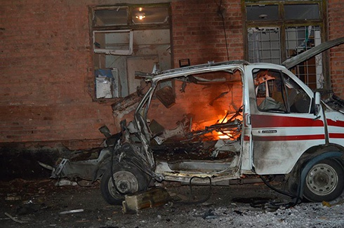 Обстрілюючи Щастя, терористи влучили в лікарню міста, - «Айдар» - фото