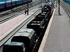 З Росії прибув потяг з військовою технікою