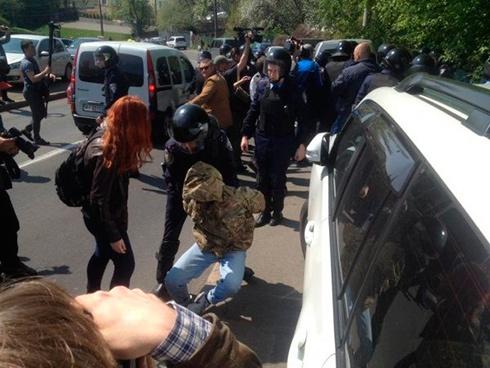 Біля мітингу комуністів в Києві сталася сутичка - фото