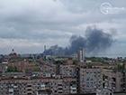 В небі над центром Маріуполя густий дим