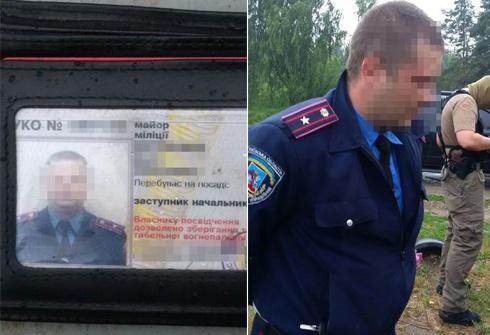 У Борисполі затримано майора міліції на хабарі 25 тис грн - фото