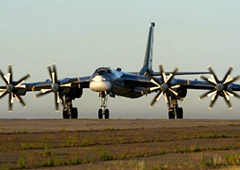 В Росії загорівся бомбардувальник Ту-95 - фото