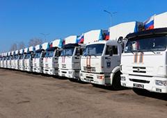 32-ий російський т.зв. «гуманітарний конвой» попрямував на Донбас - фото