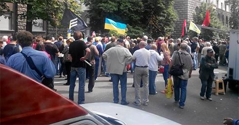 Під АП тривають протести на підтримку Правого сектору - фото