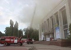 У Черкасах горів театр ім. Шевченка - фото