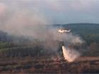 Пожежу під Чорнобилем гасять у цілодобовому режимі