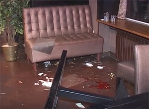 В столичному кафе кавказці влаштували стрілянину [відео з місця події] - фото