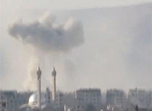 Близько 45 цивільних вбито при бомбуванні Дамаска - фото