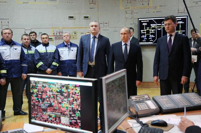 Путін в Криму запустив енергоміст - фото