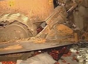 На Ставропіллі вилучили в магазині і розчавили трактором «заборонені» мандарини - фото