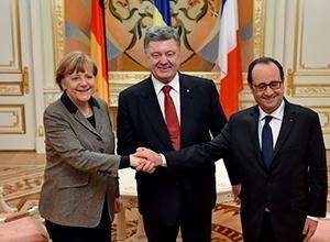 Порошенко обговорив вибори на Донбасі з Меркель і Олландом - фото