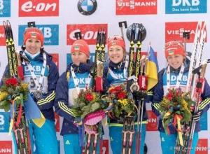 """Українки вибороли """"золото"""" етапу Кубку світу з біатлону у Німеччині - фото"""