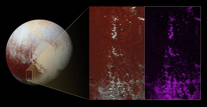 Засніжені піки Плутона - фото