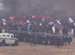 «Гвардія Путіна» вже тренується розганяти «майдан» (відео) - фото