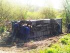На Хмельниччині перекинувся автобус, травмовано 17 пасажирів
